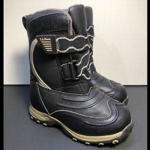 LL Bean Kid's Black Snow Boots